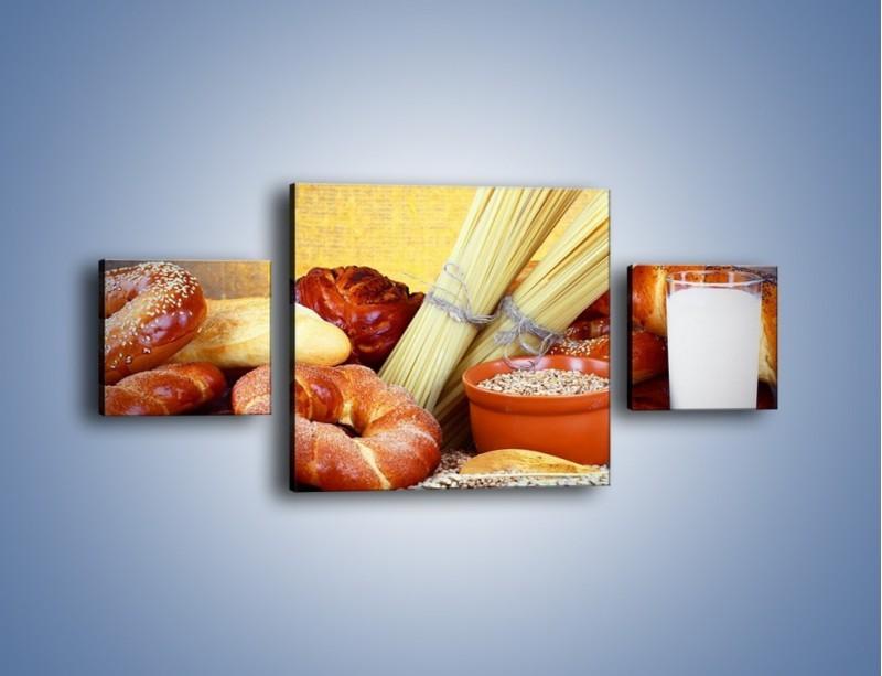 Obraz na płótnie – Mleczno-zbożowe produkty – trzyczęściowy JN091W4