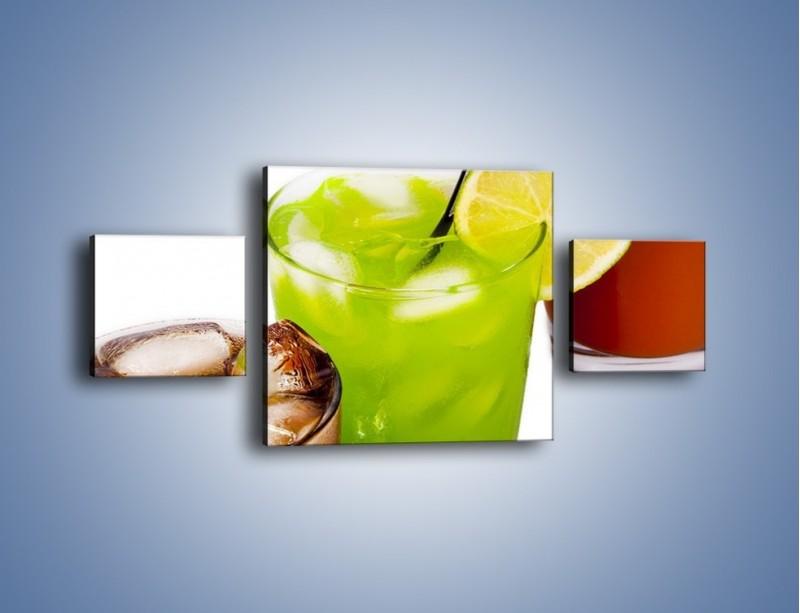 Obraz na płótnie – Kwaśno-słodkie drinki – trzyczęściowy JN093W4
