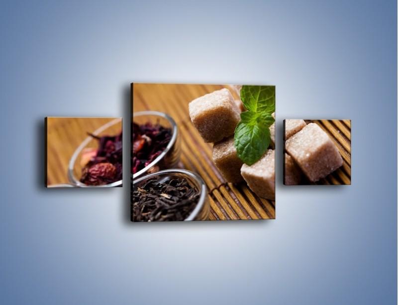 Obraz na płótnie – Ususzone bogactwa natury do herbaty – trzyczęściowy JN105W4