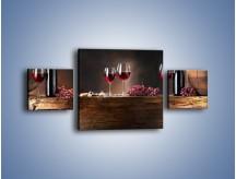 Obraz na płótnie – Beczuszki czerwonego wina – trzyczęściowy JN142W4