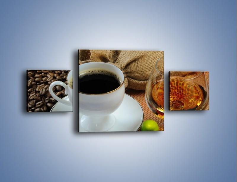 Obraz na płótnie – Wieczorowa kawa z prądem – trzyczęściowy JN166W4