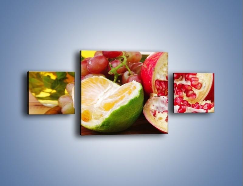 Obraz na płótnie – Owocowa taca pełna zdrowia – trzyczęściowy JN170W4