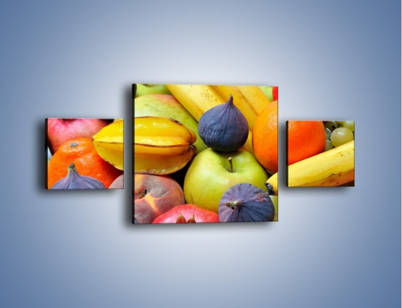 Obraz na płótnie – Owocowe kolorowe witaminki – trzyczęściowy JN173W4