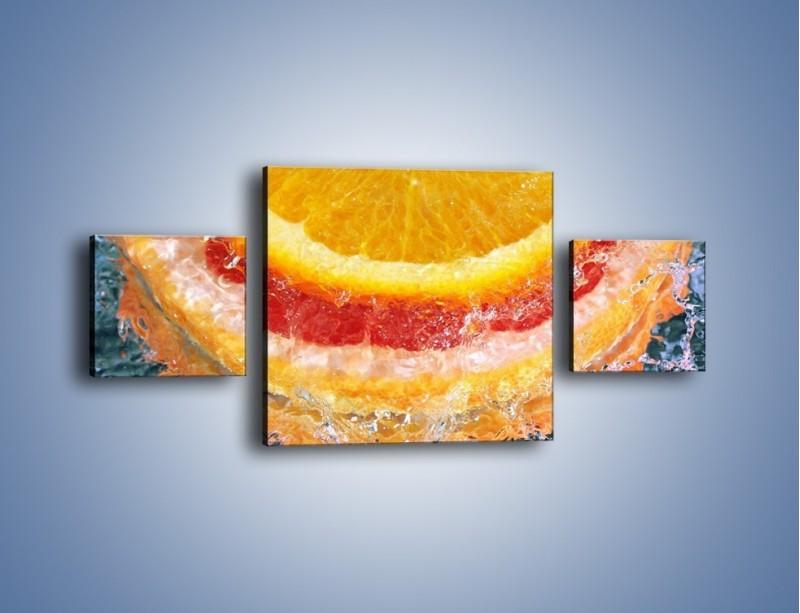 Obraz na płótnie – Cytrusowe trio – trzyczęściowy JN177W4