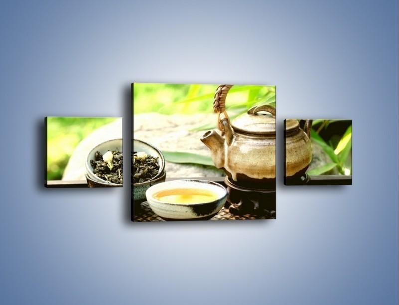 Obraz na płótnie – Herbata na świeżym powietrzu – trzyczęściowy JN249W4