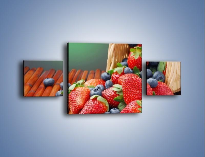 Obraz na płótnie – Truskawkowo-jagodowy obłęd – trzyczęściowy JN251W4