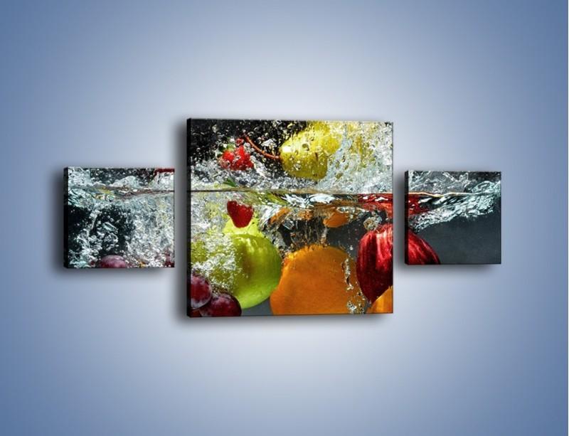 Obraz na płótnie – Głębokie owocowe zanurzenie – trzyczęściowy JN253W4