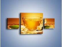 Obraz na płótnie – Delikatny smak herbaty – trzyczęściowy JN261W4