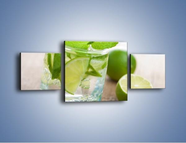 Obraz na płótnie – Limonkowy napój – trzyczęściowy JN262W4