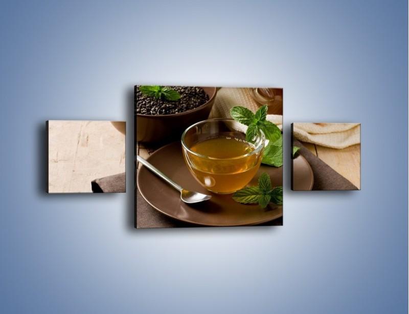Obraz na płótnie – Filiżanka herbaty na poprawę humoru – trzyczęściowy JN264W4