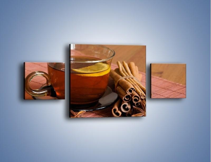 Obraz na płótnie – Rozgrzewająca filiżanka herbaty – trzyczęściowy JN266W4