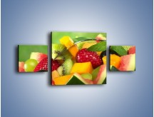 Obraz na płótnie – Arbuzowa misa z owocami – trzyczęściowy JN274W4