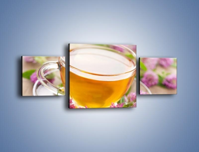 Obraz na płótnie – Herbata z kwiatami – trzyczęściowy JN283W4