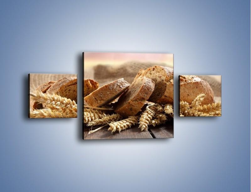 Obraz na płótnie – Świeży pszenny chleb – trzyczęściowy JN287W4