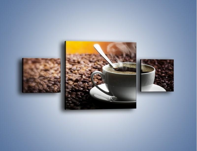 Obraz na płótnie – Aromatyczna filiżanka kawy – trzyczęściowy JN298W4