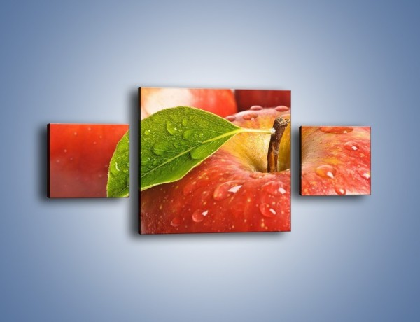 Obraz na płótnie – Jabłka prosto z drzewa – trzyczęściowy JN302W4