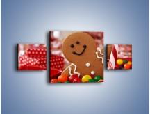 Obraz na płótnie – Ciasteczkowy ulubieniec dzieci – trzyczęściowy JN308W4