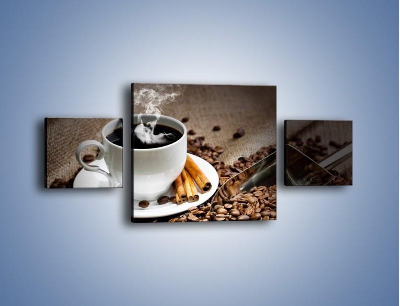 Obraz na płótnie – Czarna palona kawa – trzyczęściowy JN311W4