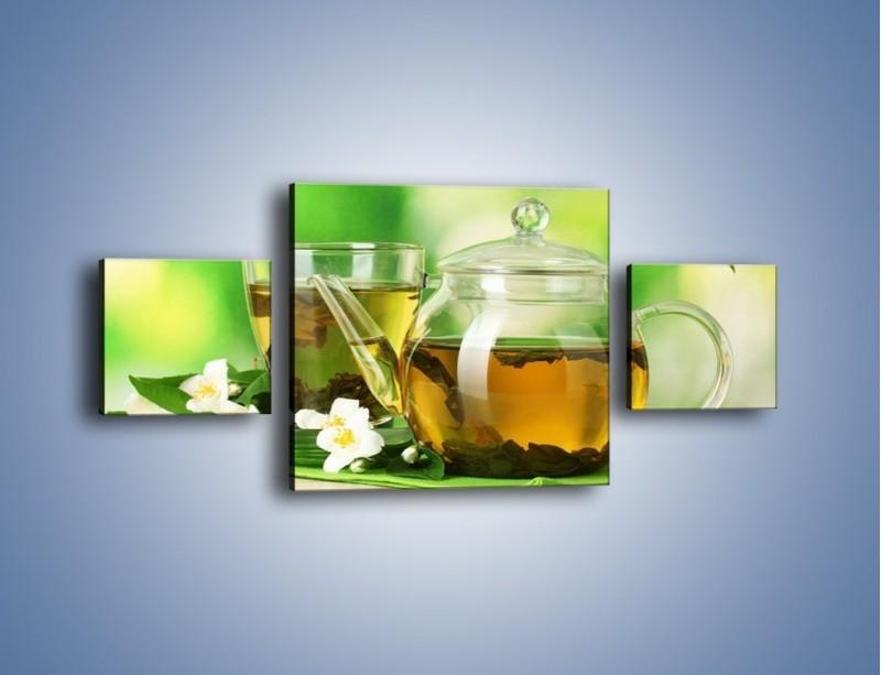 Obraz na płótnie – Herbaciane ukojenie – trzyczęściowy JN316W4