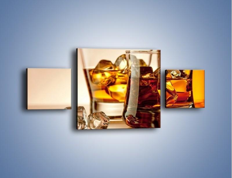 Obraz na płótnie – Męskie rozmowy przy whisky – trzyczęściowy JN318W4