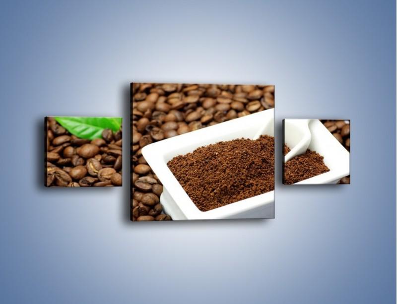 Obraz na płótnie – Zmielona kawa – trzyczęściowy JN340W4