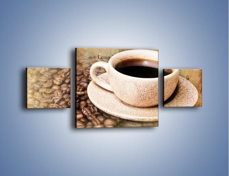 Obraz na płótnie – List przy filiżance kawy – trzyczęściowy JN347W4