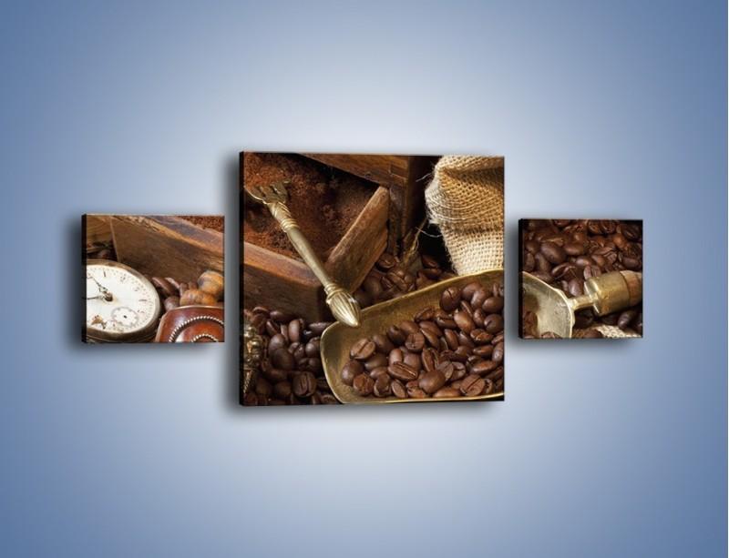 Obraz na płótnie – Szuflada pełna kawy – trzyczęściowy JN356W4