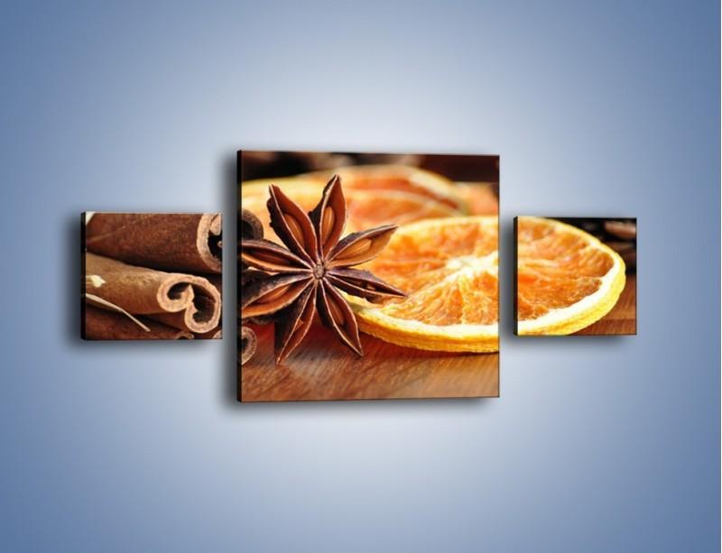 Obraz na płótnie – Pomarańcza z dodatkami – trzyczęściowy JN357W4