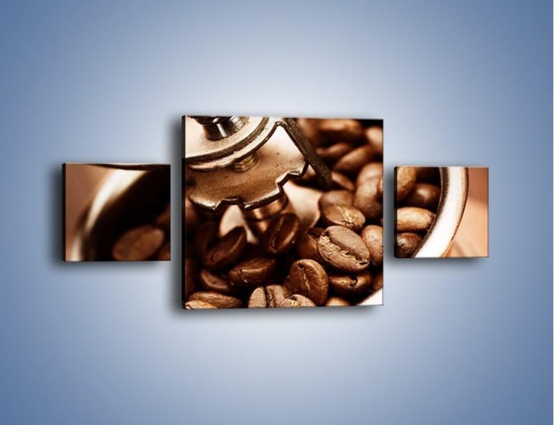 Obraz na płótnie – Kawa w młynku – trzyczęściowy JN361W4