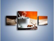 Obraz na płótnie – Aromatyczny zapach kawy – trzyczęściowy JN374W4