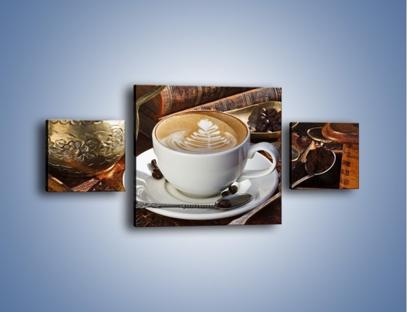 Obraz na płótnie – Wspomnienie przy kawie – trzyczęściowy JN377W4