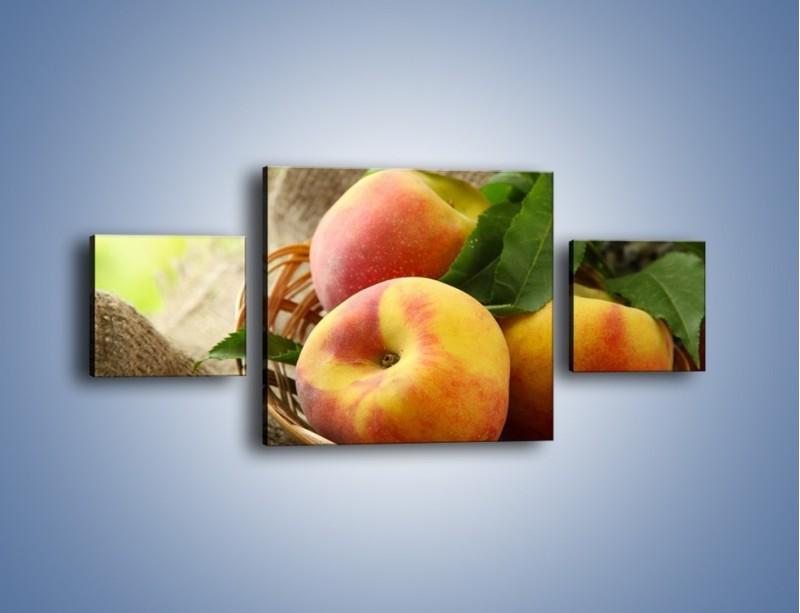 Obraz na płótnie – Dojrzałe jabłka w koszu – trzyczęściowy JN390W4