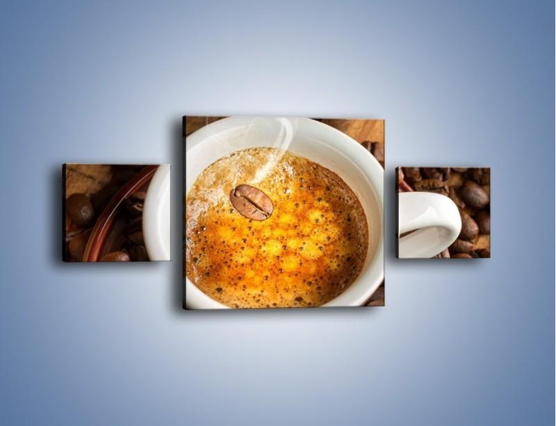 Obraz na płótnie – Ziarna zatopione w kawie – trzyczęściowy JN416W4