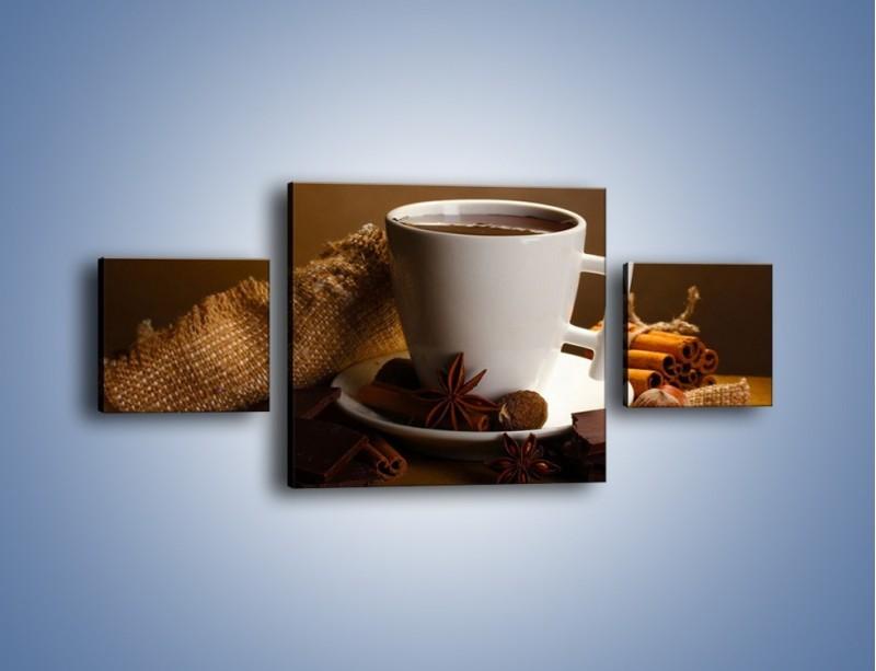 Obraz na płótnie – Gorąca czekolada z dodatkami – trzyczęściowy JN452W4
