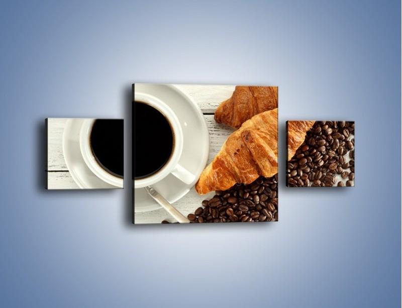 Obraz na płótnie – Kawa na białym stole – trzyczęściowy JN462W4
