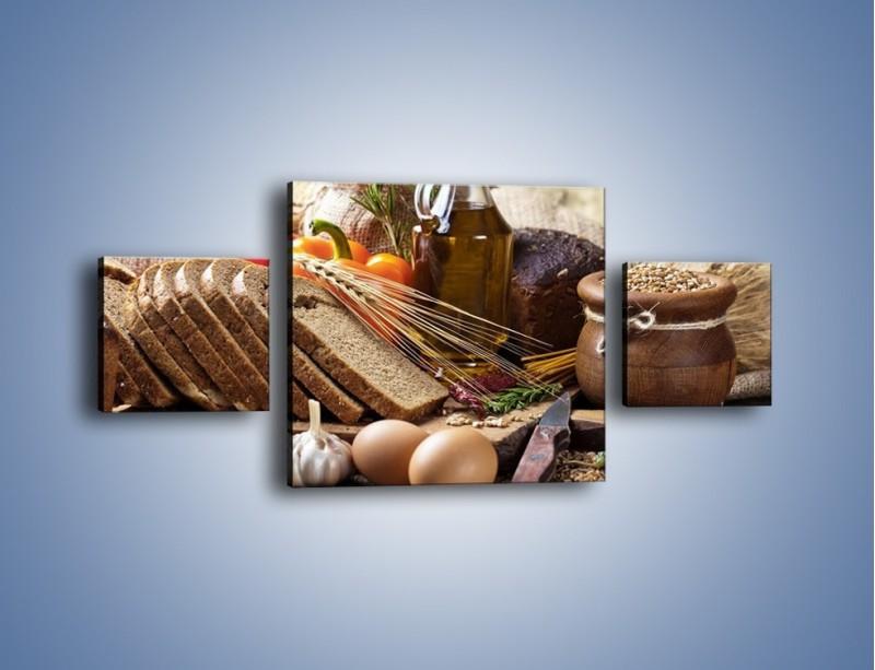 Obraz na płótnie – Chleb w roli głównej – trzyczęściowy JN501W4