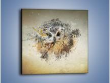 Obraz na płótnie – Czujne spojrzenie sowy – jednoczęściowy kwadratowy GR592