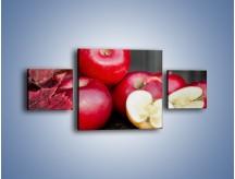 Obraz na płótnie – Czerwone jabłka późną jesienią – trzyczęściowy JN619W4
