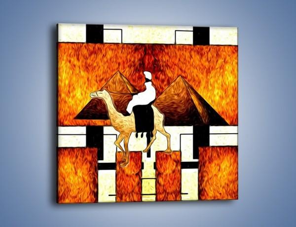Obraz na płótnie – Wędrówka na wielbłądzie – jednoczęściowy kwadratowy GR593