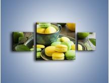 Obraz na płótnie – Cytrynowo-limonkowe ciasteczka – trzyczęściowy JN724W4