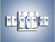 Obraz na płótnie – Czysta wódka w butelkach – trzyczęściowy JN748W4