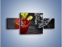 Obraz na płótnie – Czerwony drink z selerem – trzyczęściowy JN751W4