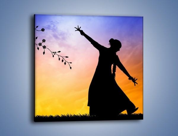 Obraz na płótnie – Wieczorny cygański taniec – jednoczęściowy kwadratowy GR597