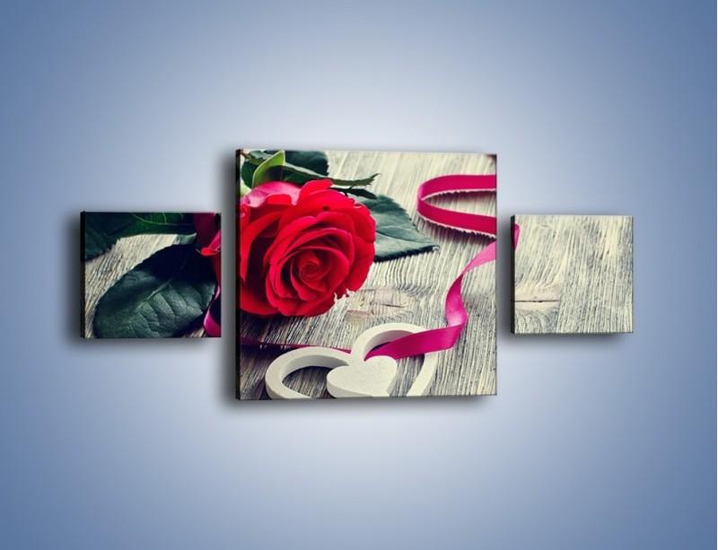 Obraz na płótnie – Od serca aż po różę – trzyczęściowy K1013W4