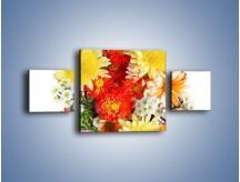 Obraz na płótnie – Bukiecik kwiatów z ogródka – trzyczęściowy K118W4