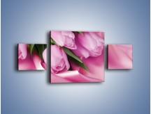 Obraz na płótnie – Atłas wśród tulipanów – trzyczęściowy K152W4