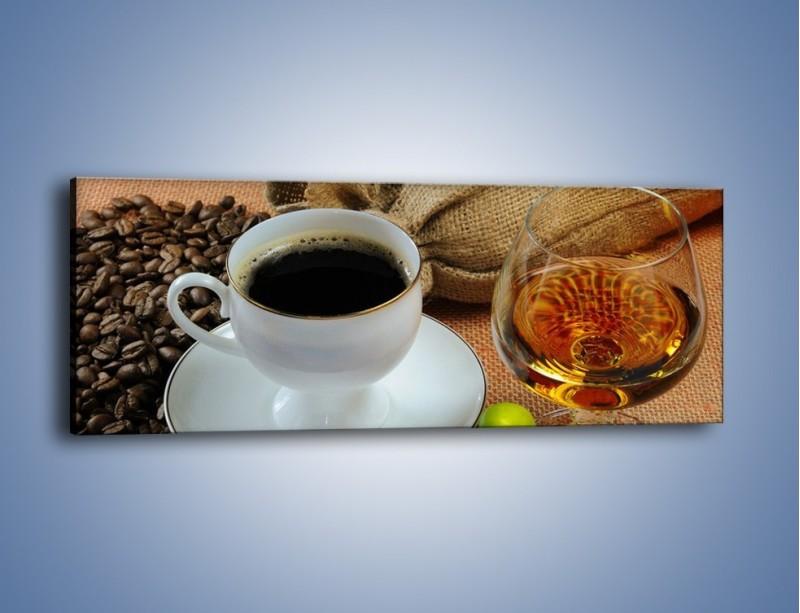 Obraz na płótnie – Wieczorowa kawa z prądem – jednoczęściowy panoramiczny JN166