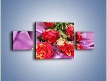 Obraz na płótnie – Błogi odpoczynek z różą – trzyczęściowy K251W4