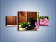 Obraz na płótnie – Bambus storczyk i kamienie – trzyczęściowy K279W4