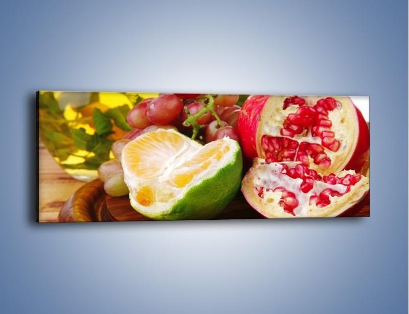 Obraz na płótnie – Owocowa taca pełna zdrowia – jednoczęściowy panoramiczny JN170